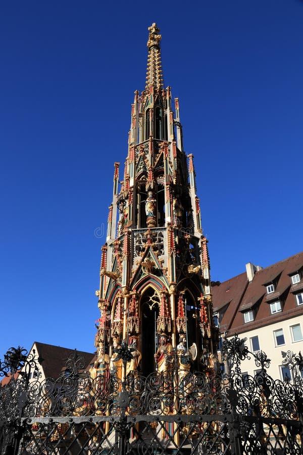 Nuremberg gränsmärke, Tyskland royaltyfri fotografi