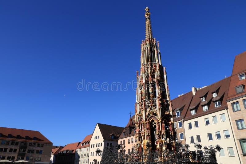 Nuremberg gr?nsm?rke, Tyskland royaltyfria foton