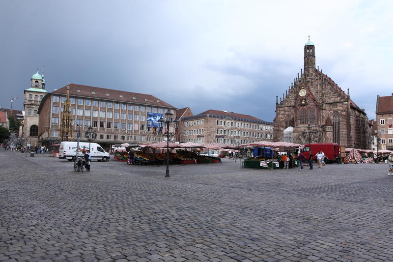 Nuremberg historic square stock image