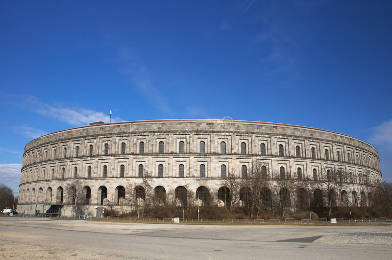 Nuremberg Kongresshalle stock afbeelding