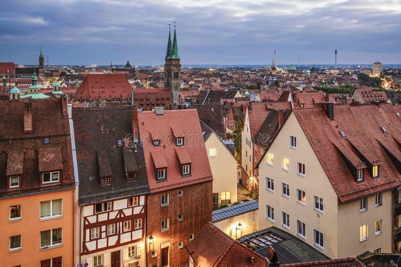 Nuremberg linia horyzontu zdjęcie stock