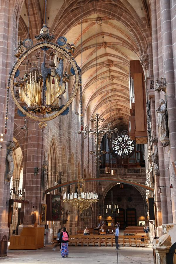 Nuremberg Lorenz Kirche zdjęcie royalty free