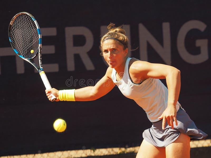 Nuremberg Niemcy, Maj, - 18, 2019: Włoski gracz w tenisa Sara Errani przy euro 250 000 WTA Versicherungscup turniej najpierw obraz royalty free