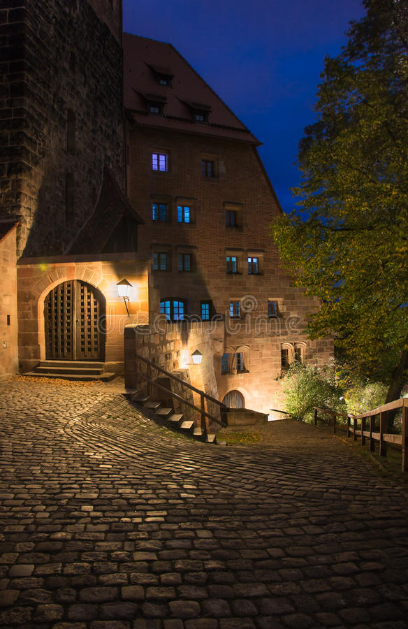 Nuremberg night, Germany -Imperial Castle royalty free stock image