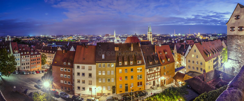 Nuremberg panorama obraz stock