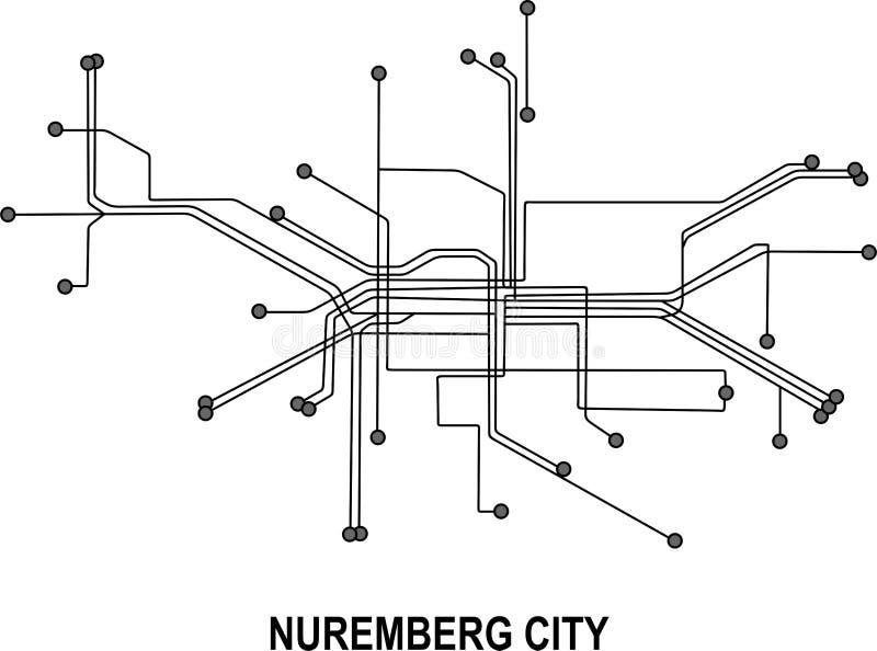 Nuremberg stadsöversikt arkivfoton