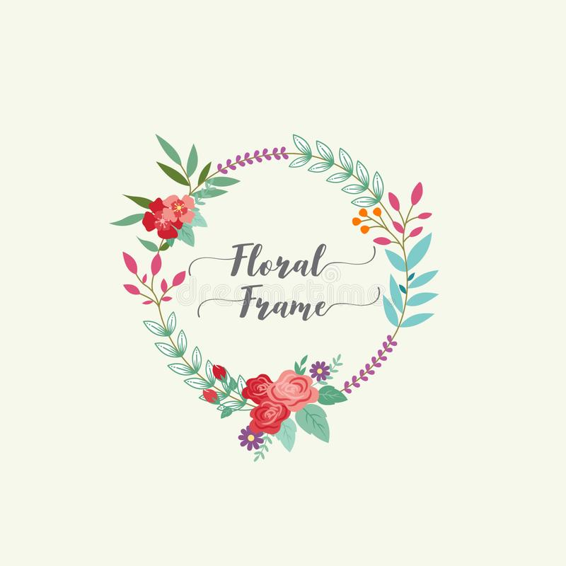 Lovely and romantic floral frame. This is Lovely and romantic floral frame, wreath design template vector stock illustration