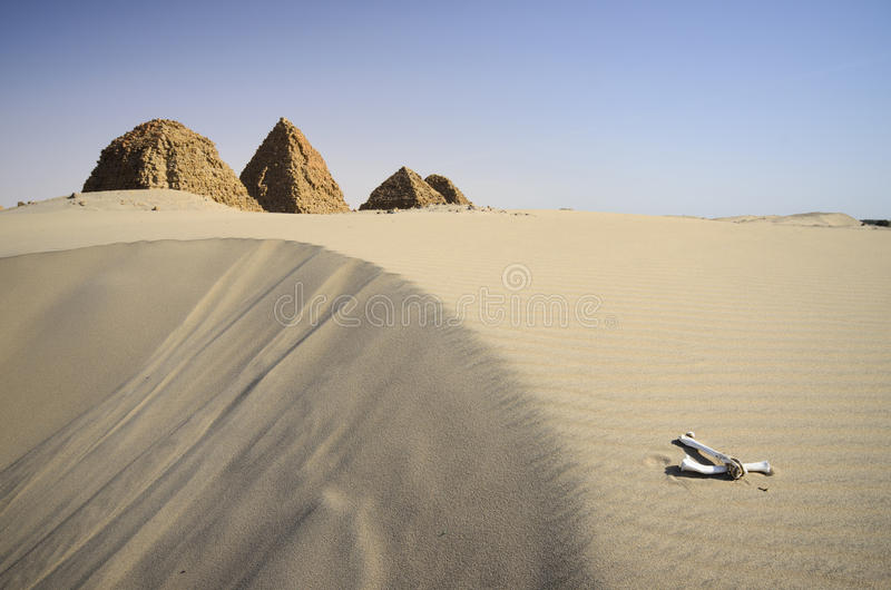 Nuri大墓地在苏丹 库存照片
