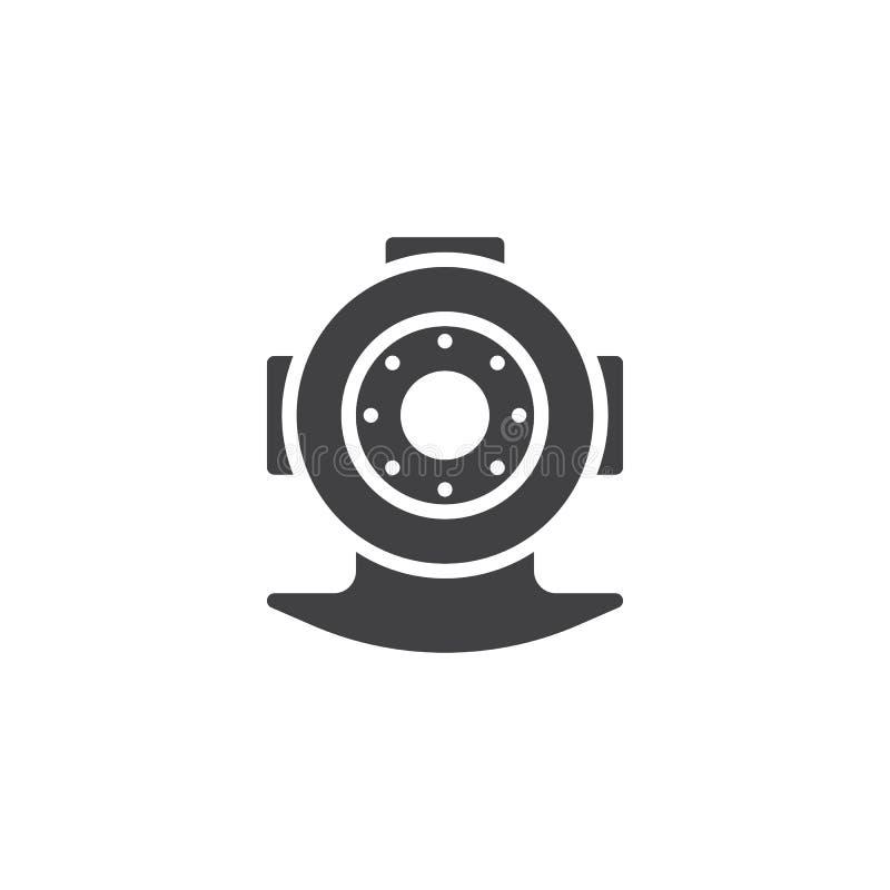 Nurkowa hełma wektoru ikona ilustracji