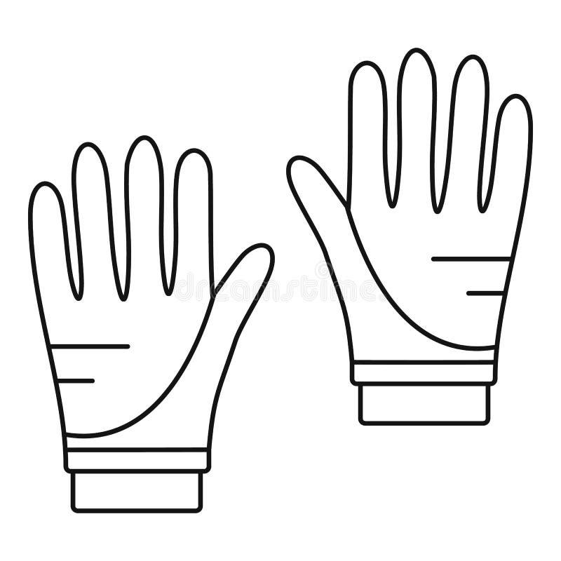 Nurkowa rękawiczki ikona, konturu styl royalty ilustracja