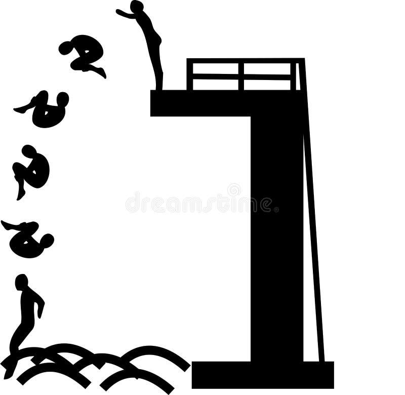 nurkowa wysokość ilustracja wektor