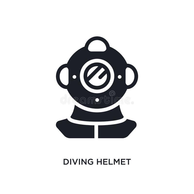 nurkowego hełma odosobniona ikona prosta element ilustracja od nautycznych pojęcie ikon nurkowego hełma logo znaka editable symbo ilustracji