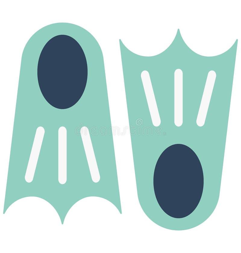 Nurkowi żebra Barwią Wektorową ikonę która może łatwo redagować lub modyfikować royalty ilustracja