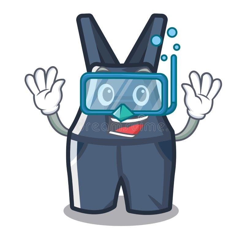 Nurkowi kombinezony w charakteru kształcie ilustracji