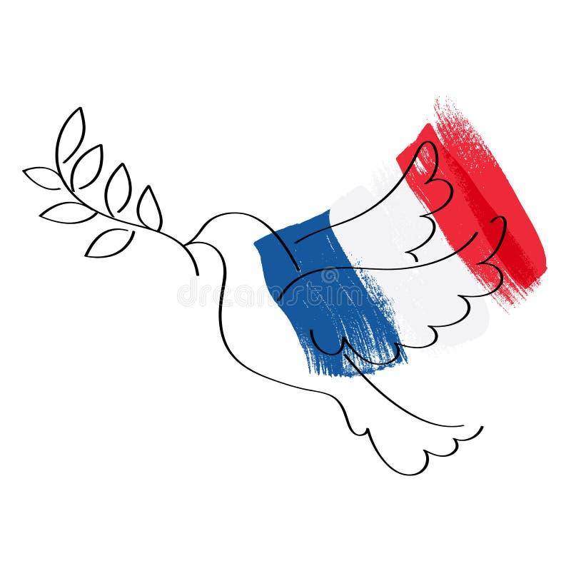 Nurkujący i chorągwiany Francja wektoru ilustracja royalty ilustracja