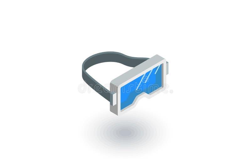 Nurkujący, Snorkelling isometric płaska ikona 3d wektor ilustracja wektor