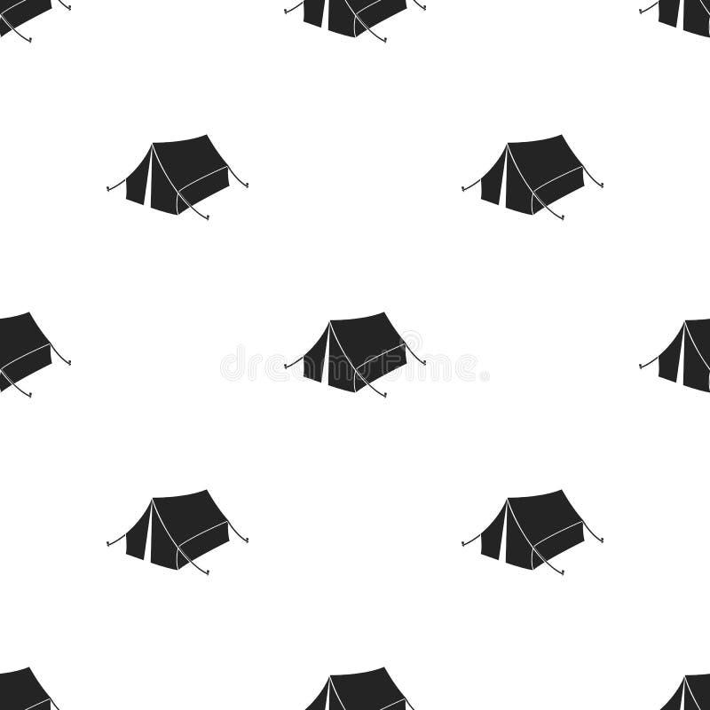 Nurkuje ikonę w czerń stylu odizolowywającym na białym tle Łowiecka wzoru zapasu wektoru ilustracja ilustracji