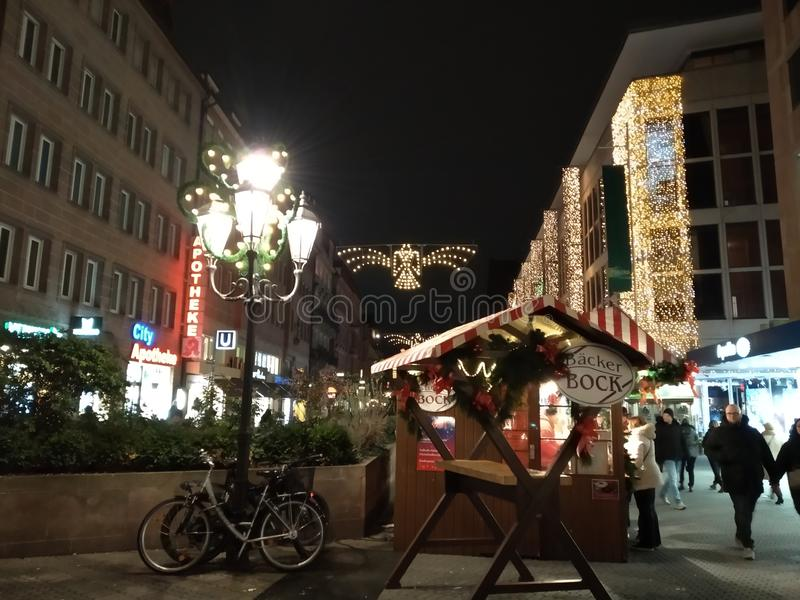 Nurnberg bij Kerstmis, Duitsland royalty-vrije stock afbeeldingen