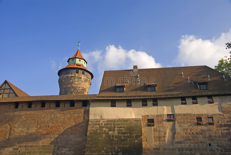 Nurnberg castle royalty free stock photography