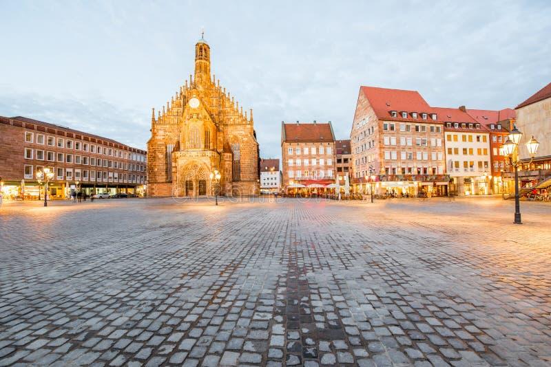 Nurnberg stad i Tyskland arkivbilder