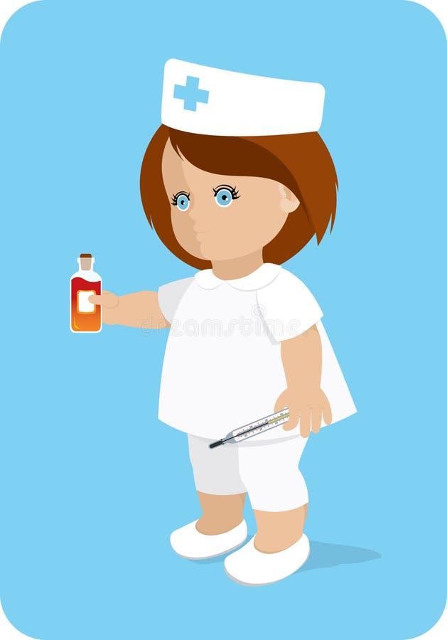 Download Nurse. stock vector. Illustration of nurses, hair, girls - 14589477