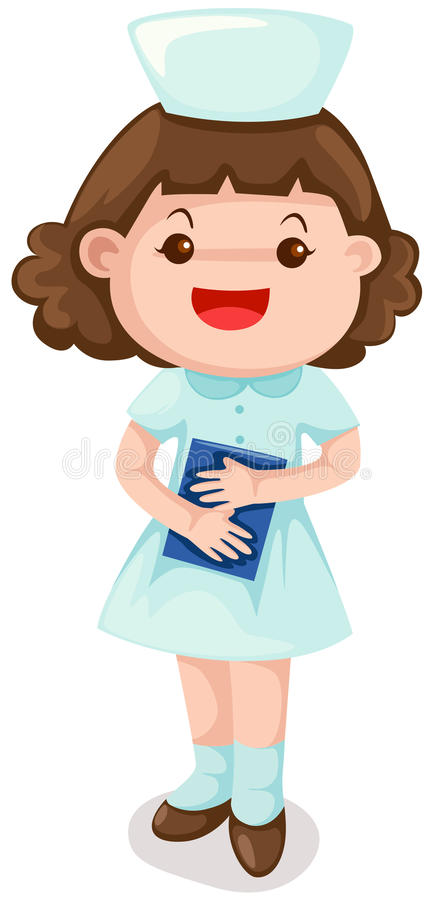 Download Nurse stock vector. Image of illustration, holding, character - 14770420