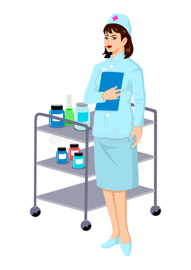 Download Nurse stock vector. Image of healthcare, beautiful, occupation - 25885823