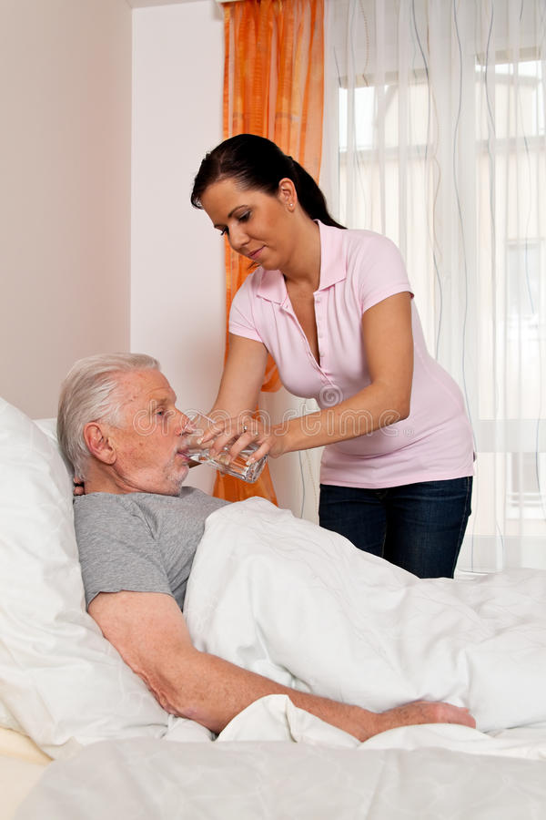 Download Nurse In Aged Care For The Elderly In Nursing Stock Image - Image: 14768579
