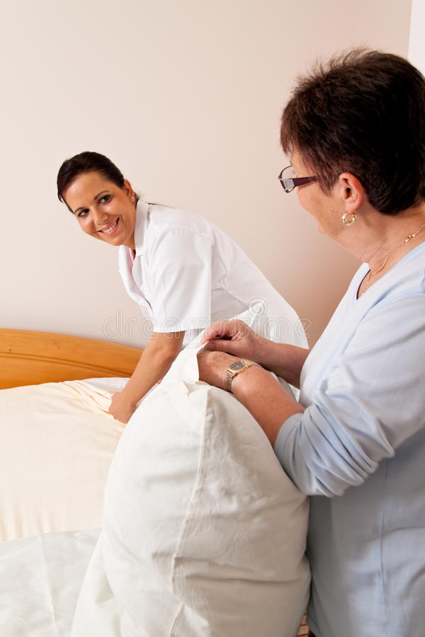 Download Nurse In Aged Care For The Elderly In Nursing Stock Image - Image: 15528713