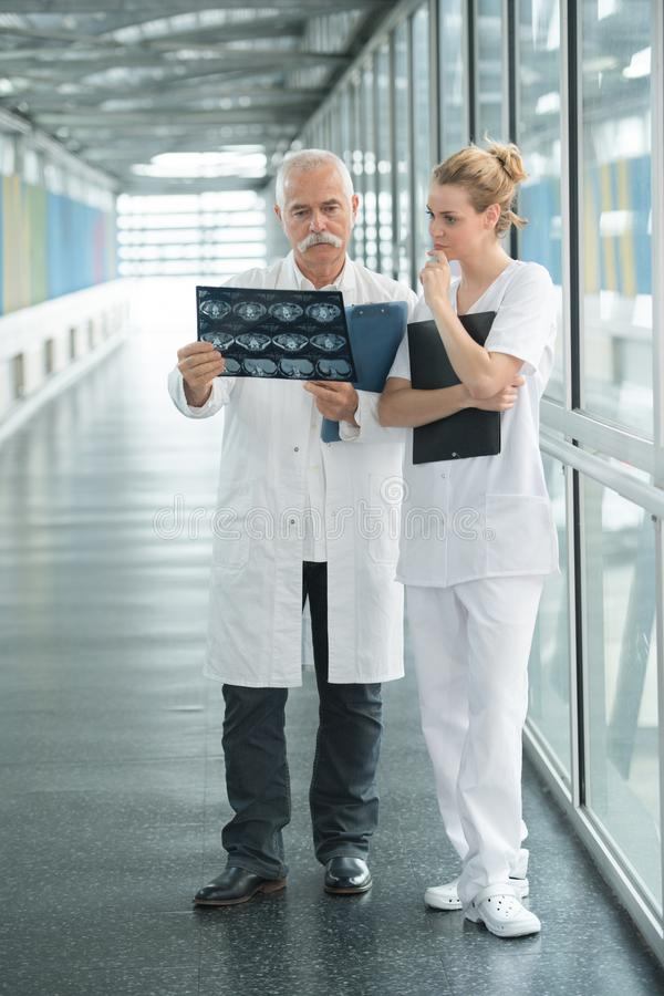 Nurse Asking Doctor About Radiology Result Stock Image Image Of