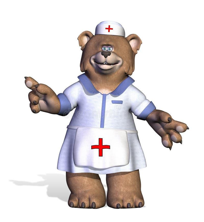 Nurse Bear royalty free illustration