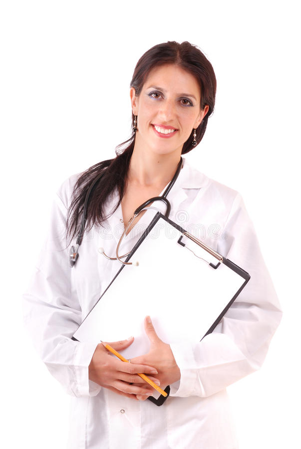 Nurse with beautiful smile. royalty free stock photography