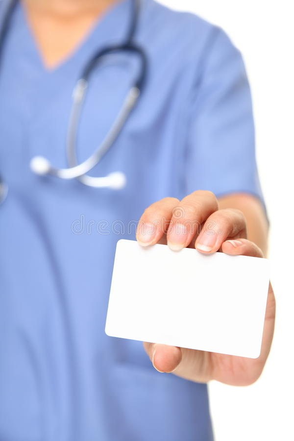 Download Nurse business card stock photo. Image of copy, isolated - 22701662