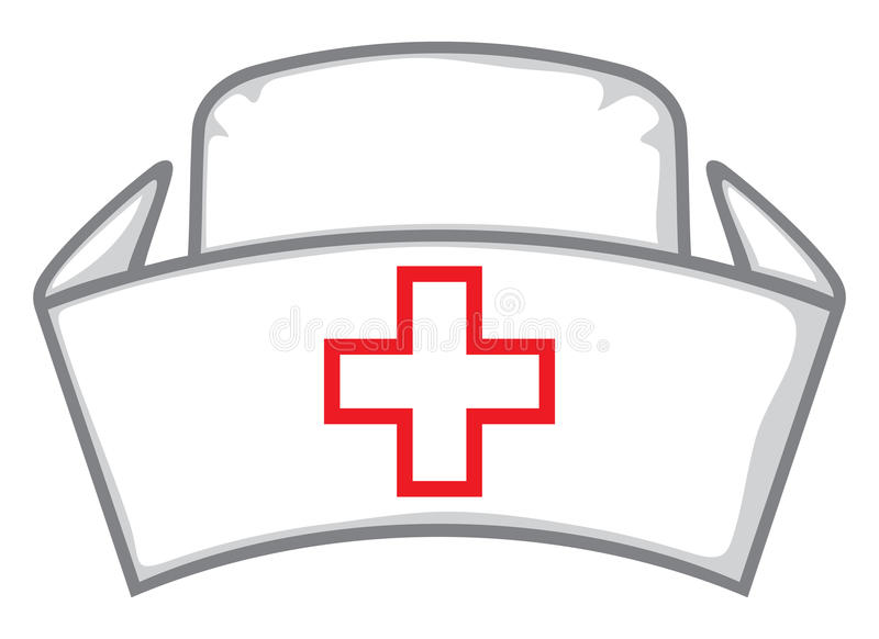 nurse cap stock vector illustration of clinical practitioner rh dreamstime com  nurse cap clip art