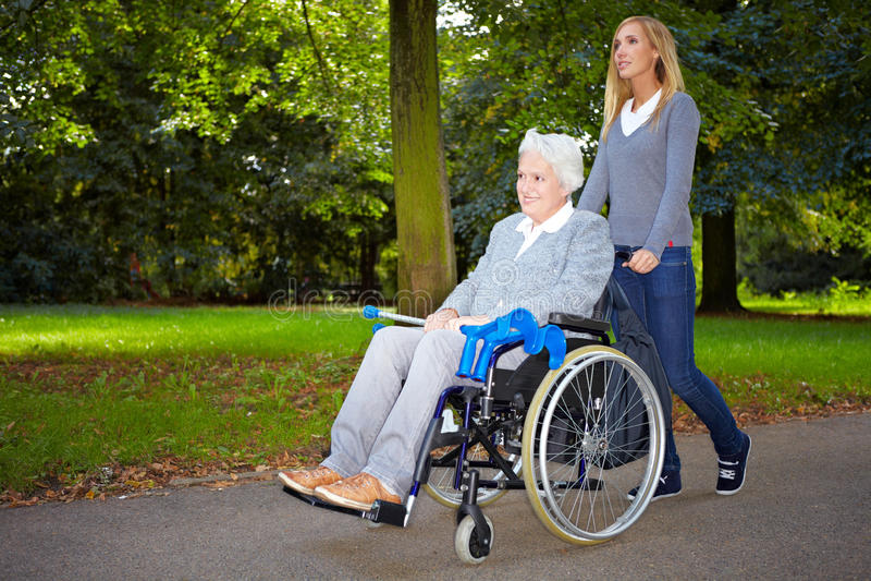 Download Nurse Driving Elderly Woman Stock Image - Image: 17019701