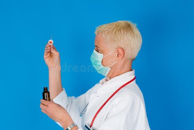 Nurse With Face Mask Stock Photo