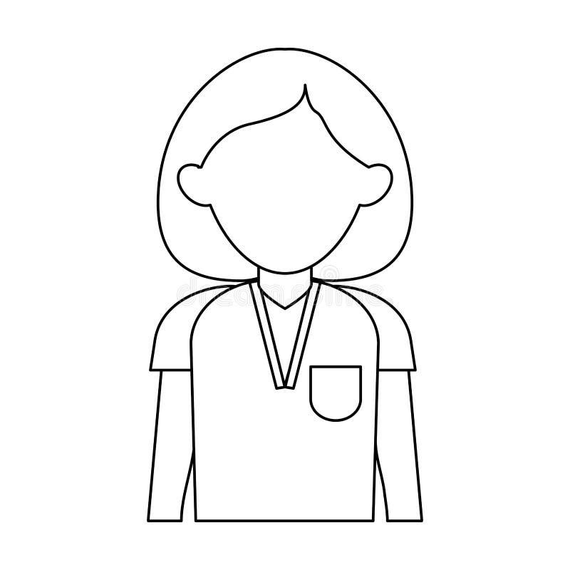 Nurse faceless avatar. Icon vector illustration graphic design vector illustration