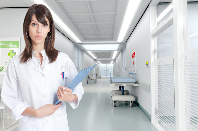 Download Nurse at the hospital stock photo. Image of corridor - 23361912