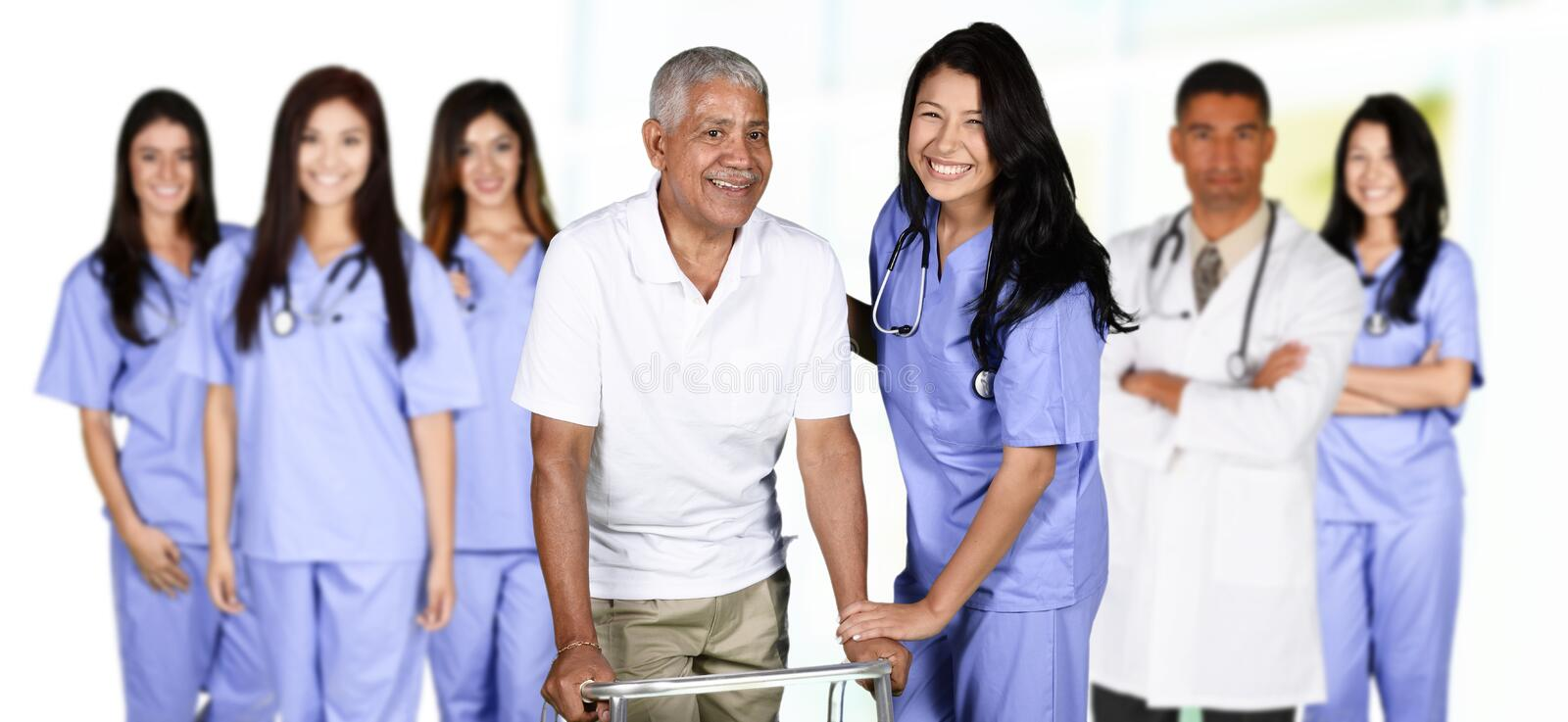 Nurse In Hospital stock photography