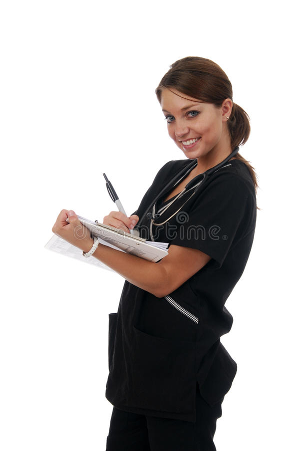 Download Nurse making rounds stock image. Image of woman, pretty - 9998821