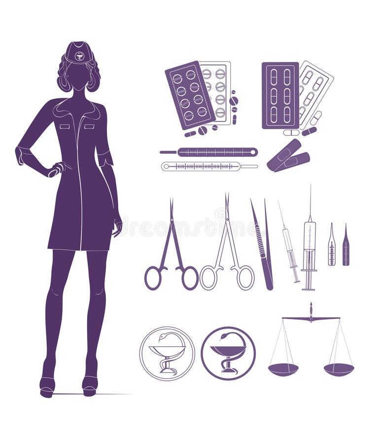 Medical Background With Nurse Stock Photo