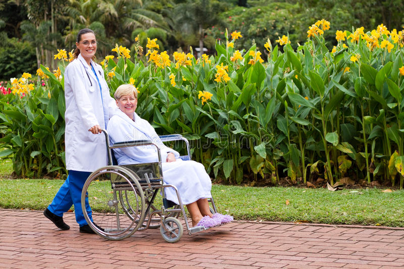 Download Nurse and patient stock image. Image of disable, happy - 14218765