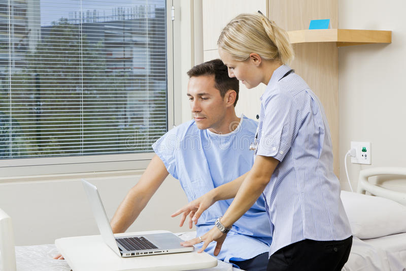 Download Nurse and patient stock photo. Image of therapy, patient - 24837006