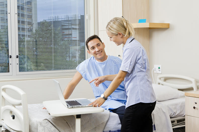 Download Nurse and patient stock image. Image of patient, recovery - 24837035