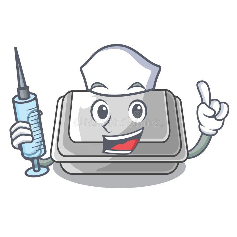 Nurse plastic box in the mascot shape. Vector illustration vector illustration
