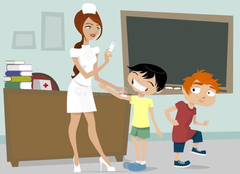 Download Nurse with schoolboys stock vector. Image of modern, patient - 10832174
