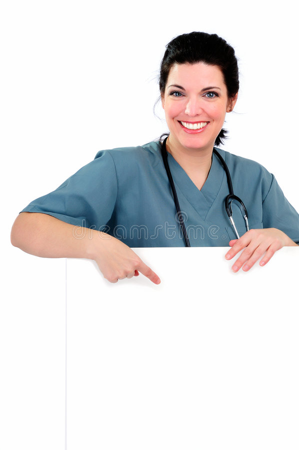 Download Nurse Sign stock photo. Image of blank, cardiologist, copyspace - 8452724