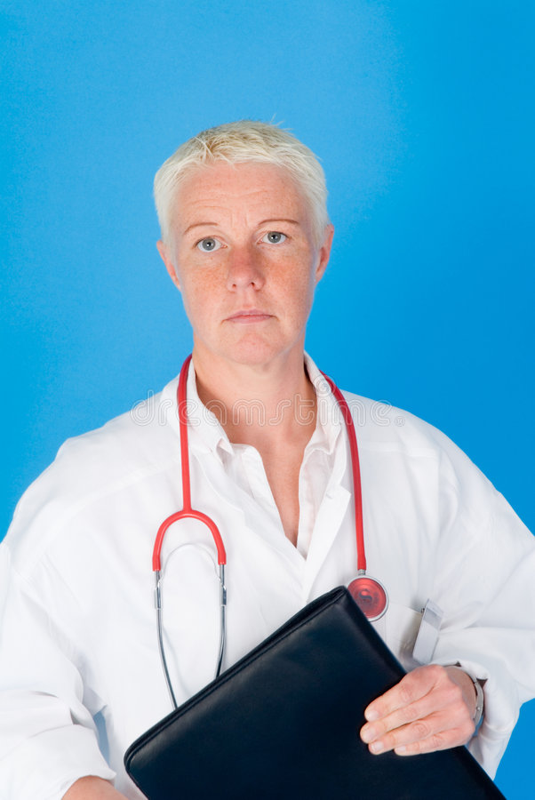 Download Nurse with stethoscope stock image. Image of neck, single - 5238163