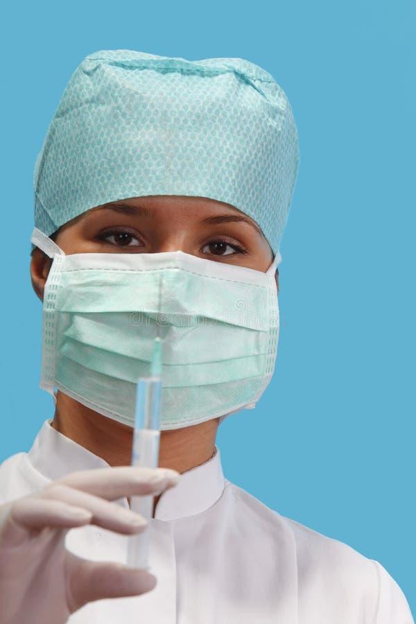 Nurse with a syringe royalty free stock photo