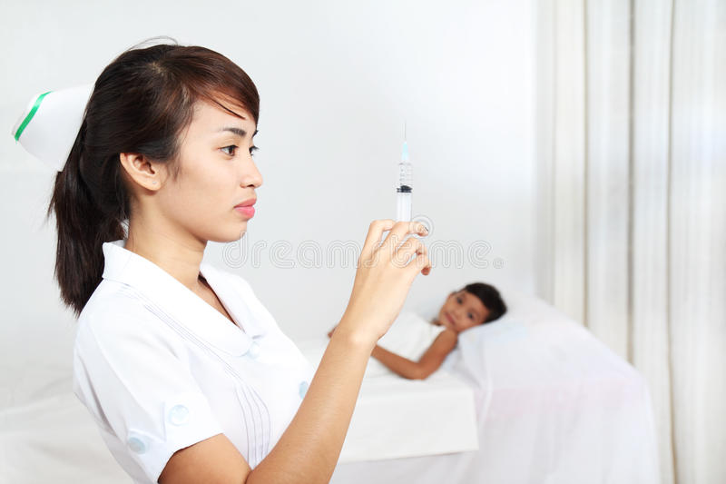 Download Nurse with syringe stock photo. Image of profession, woman - 19471404